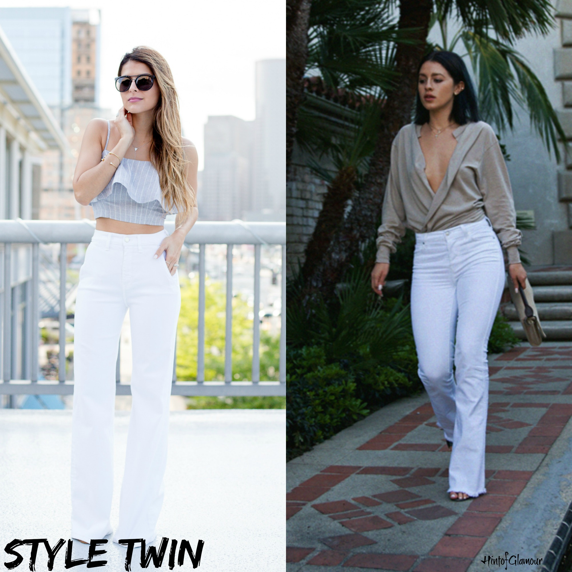 Flare White Jeans - Xtellar Jeans
